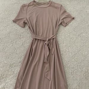 Mauve topshop t shirt dress